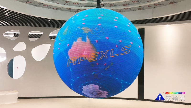 Ledman-Apexls Led Sphere Shining on ASEAN