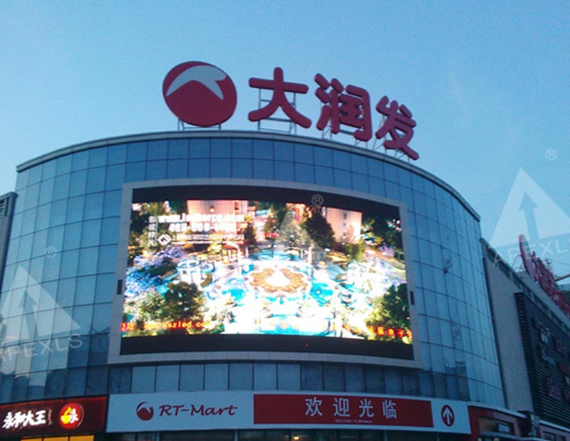 P16 outdoor full color LED display with 147㎡