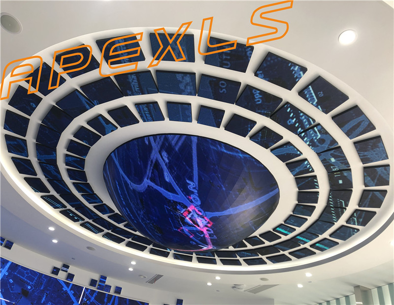 3m indoor P4 semi-sphere LED display in Nanjing