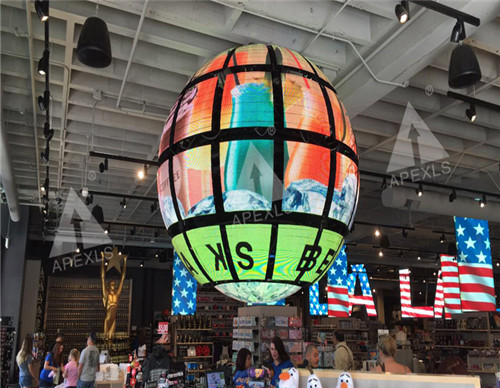 Moving LED sphere in Hollywood, USA