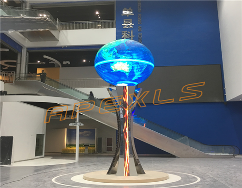 Sphere LED Display with Ø2.2m in Shandong Province
