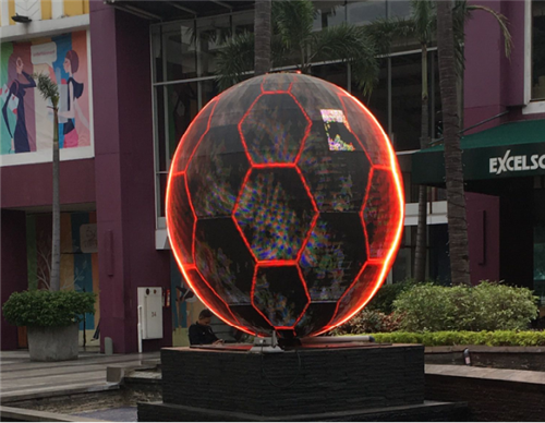 Outdoor LED sphere Display in Indonesia