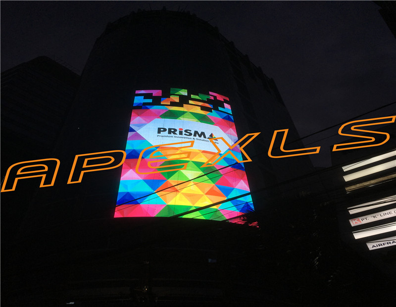 P16-16 Curtain LED display in Jakarta, Indonesia