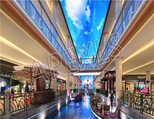 LED ceiling display in Shopping mall, Sanya, Hainan