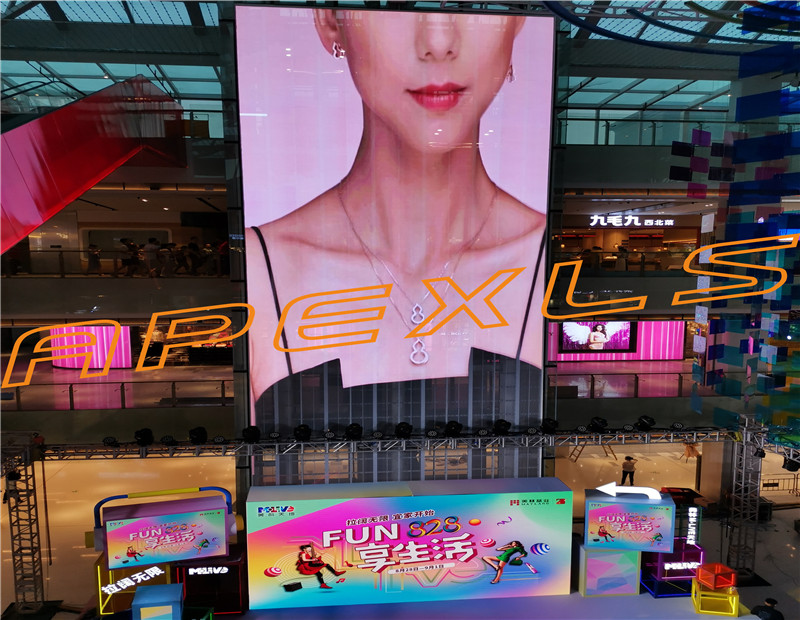 P3.91-7.8MM Indoor Transparent LED  Screen in Guangzhou, China