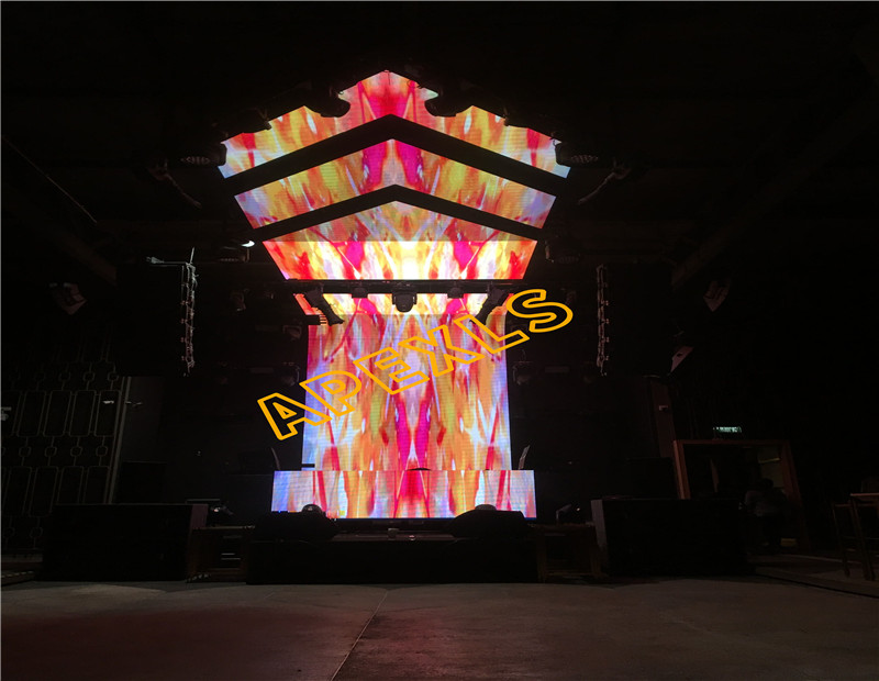 P6mm Indoor creative LED display in Thailand bar